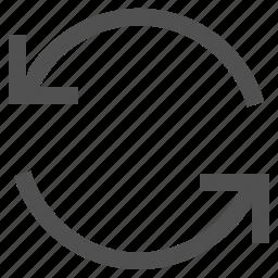 arrow, back, backup, refresh, restore, spin, synchronization icon