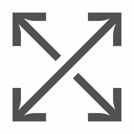 arrow, cross, move, resize, size, stretch icon