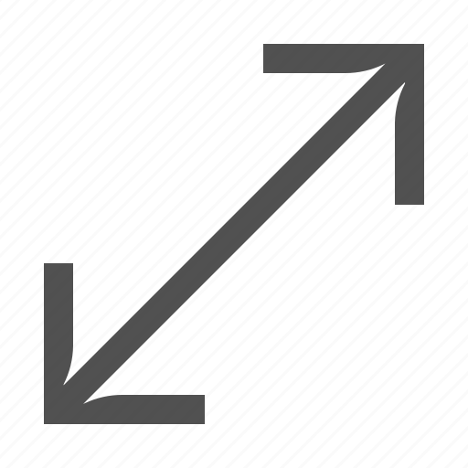 arrow, diagonal, resize, size, stretch icon
