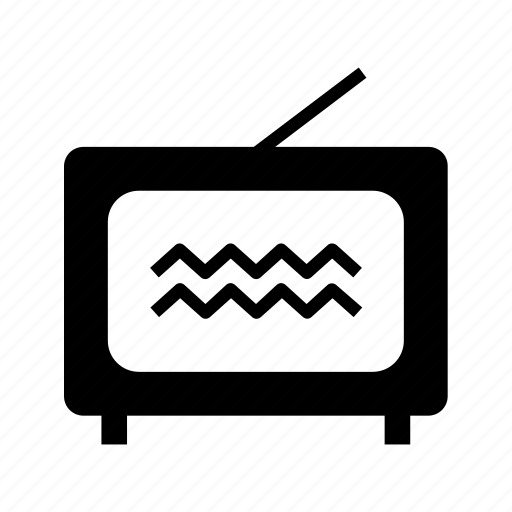 antenna, interference, old, retro, set, televisão, tv icon