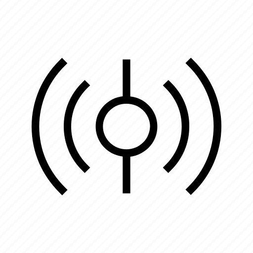 broadcast, frequencies, internet, señal, signal, sinal, waves icon