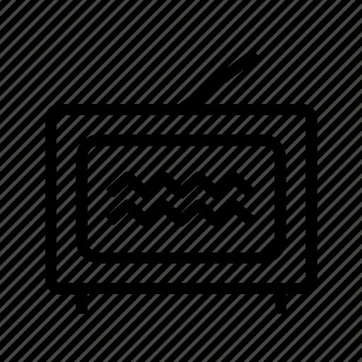 antenna, broadcast, old, set, televisão, tube, tv icon