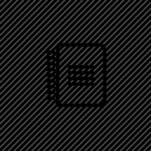 binder, portrait icon