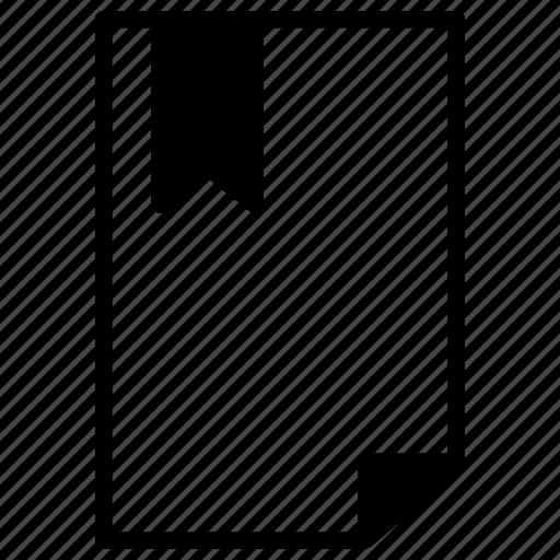 bookmark, document, documents, favorite, line, paper icon
