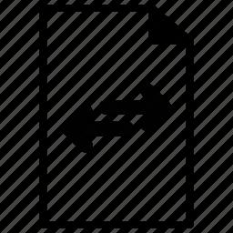 cross, document, file, line, paper icon