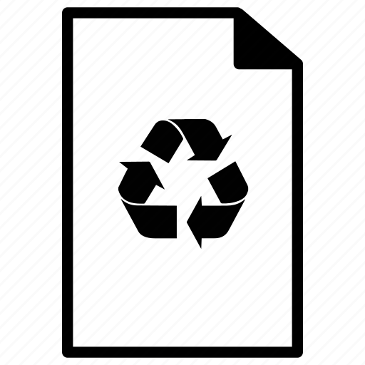 document, documents, file, files, line, paper, recycle icon