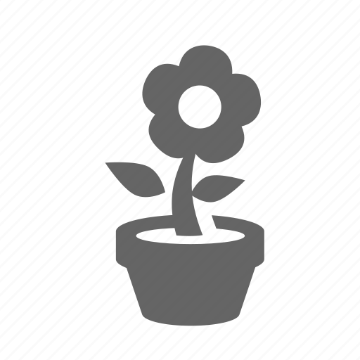 bud, floral, flower, growth, herb, plant, pot icon