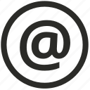 address, at, browser, internet, marketing icon