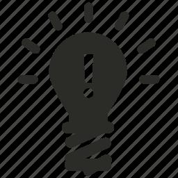 bulb, idea, internet, light, marketing icon