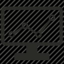analytics, bar, browser, business, chart, charts, computer, diagram, graph, internet, market, marketing, monitor, monitoring, optimization, progress, report, screen, statistics icon