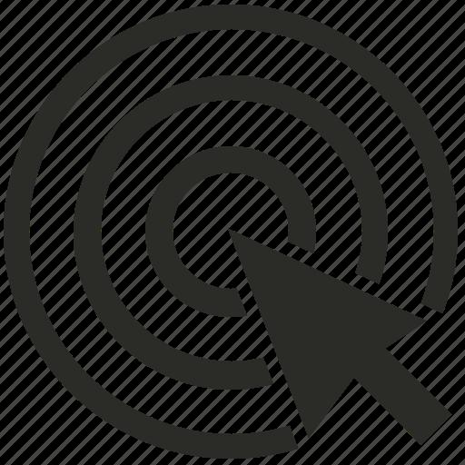 aim, click, connection, internet, marketing, optimization, pay, per, seo, setup icon