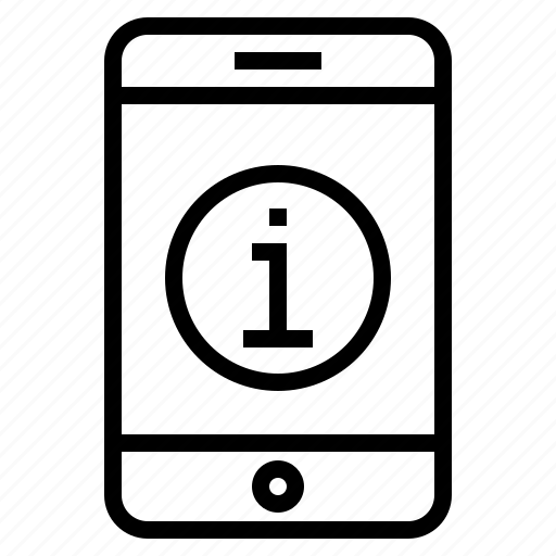 info, information, phone, service, smartphone, support icon