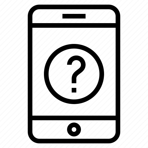 phone, question mark, service, smartphone, support icon