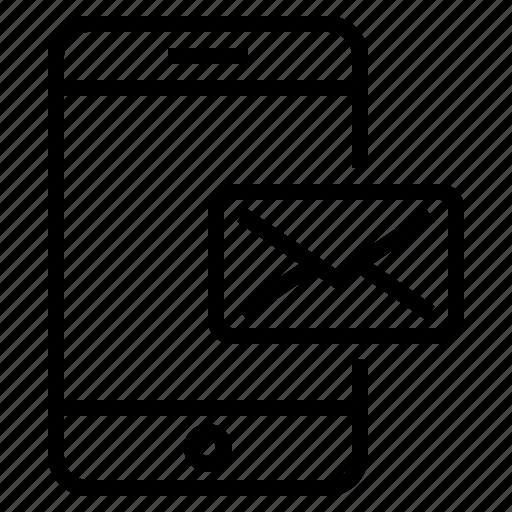 mail, phone, smartphone icon