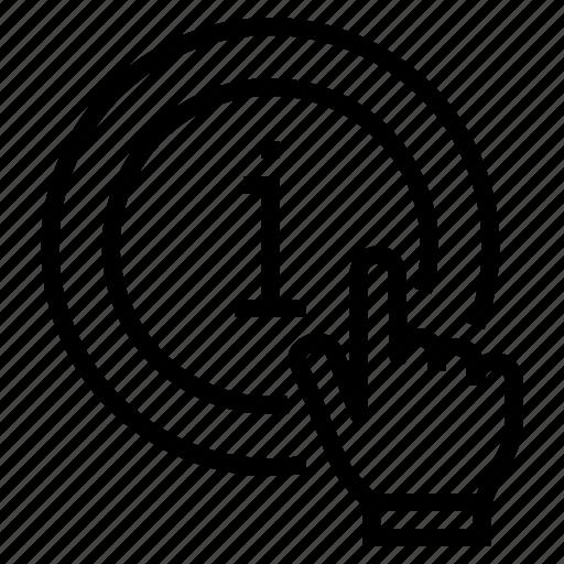 hand, info, information, service icon