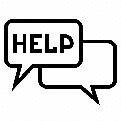 bubble, chat, help, hotline, service, speech, support icon