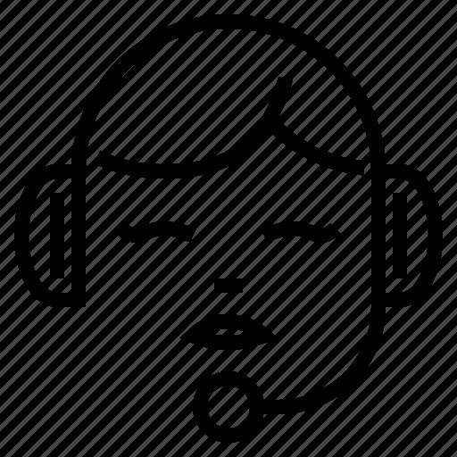 customer care, help, hotline, service, speech, support icon