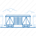 cargo train, freight train, railway transport, shipping icon