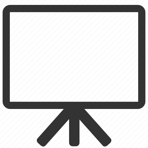 blackboard, desk icon