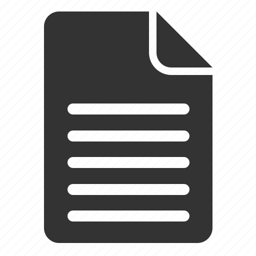 document, filled icon