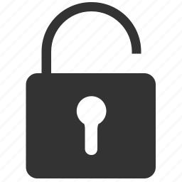 lock, open, protect icon