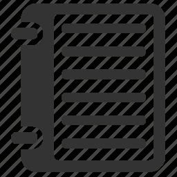 notebook, reminder icon