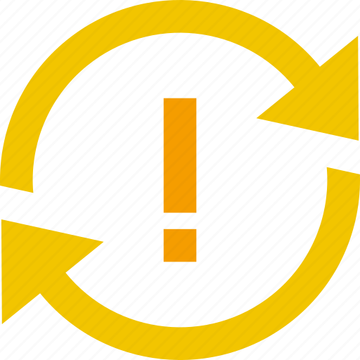 action, alert, arrow, problem, sync icon