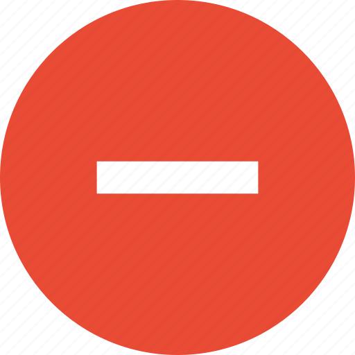 action, delete, minus, remove, subtract icon