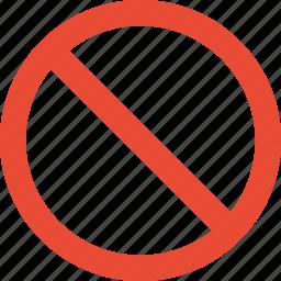action, block, prevent, restrict, stop icon