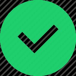action, check, checkmark, done, verify icon