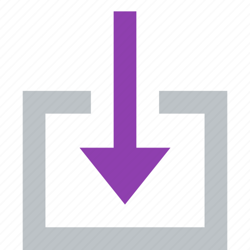 action, arrow, down, download, import icon