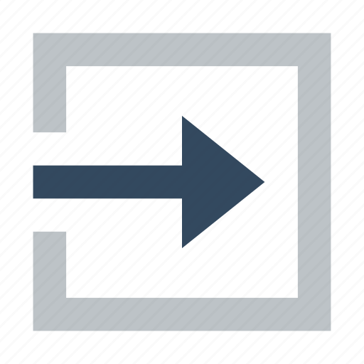 action, arrow, left, login, move icon
