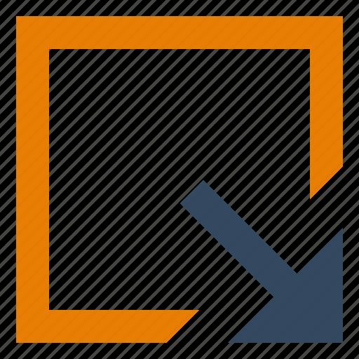 action, arrow, expand, move, open icon