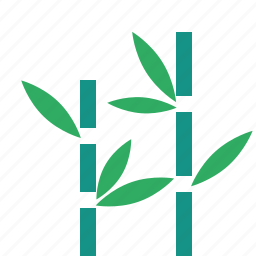 bamboo, garden, nature, park, plant, tree icon