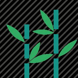 bamboo, garden, nature, park, plant, tree icon
