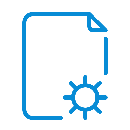 controls, doc, document, file, gear, option, settings icon