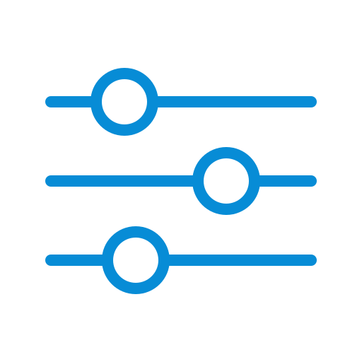 Contorls, preferences, configuration, options, settings icon