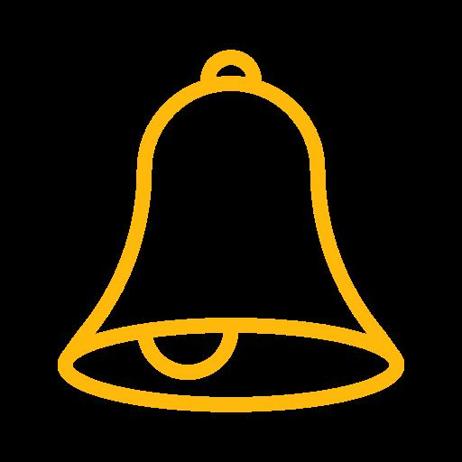alarm, allert, bell, notification, reminder, ring icon