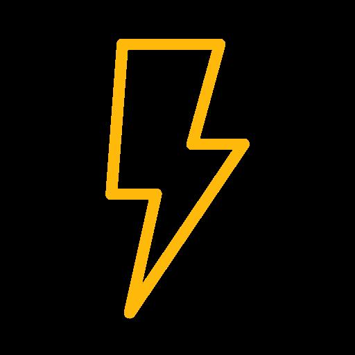 energy, error, lightbulb, power, thunderbolt, warning icon