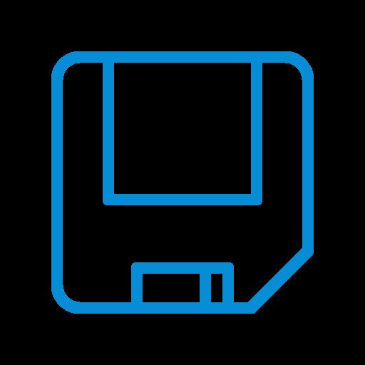 disk, diskette, floppy, guardar, save, saved icon