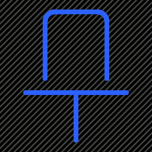 clip, pin, save, ui icon