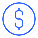 coin, dollar, money, ui icon
