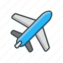 airplane, holiday, transportation, travel, vacation icon
