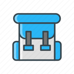 backpack, bag, hiking, holiday, travel icon