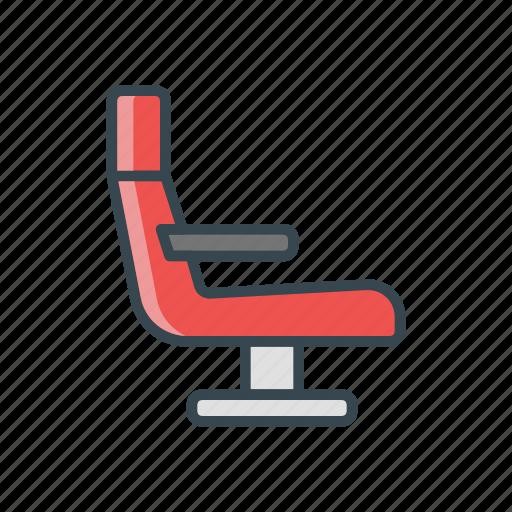 airplane, chair, seat, train, travel icon