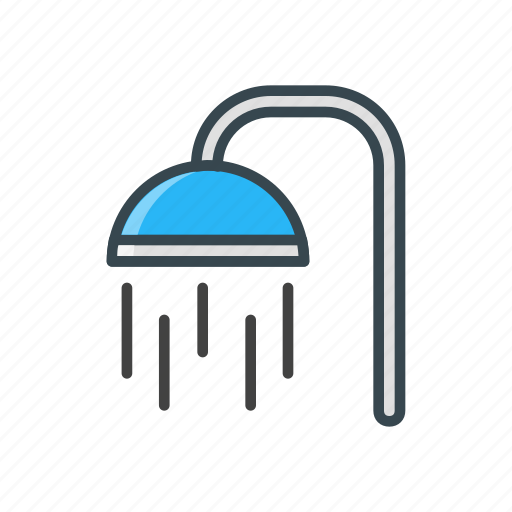 bathroom, facility, hotel, shower, travel icon