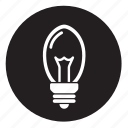 lightbulb, oval, ovalglobe icon