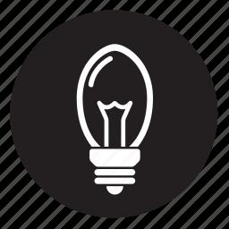 lightbulb, oval, ovalglobe icon
