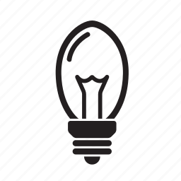 lightbulb, ovalglobe icon