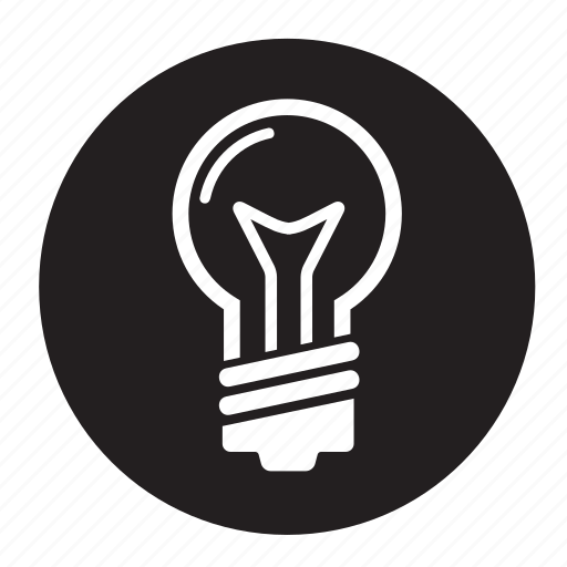 idea, lightbulb, roundglobe icon